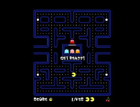 Pac Man is one of the many Flash games featured in Internet Archive.