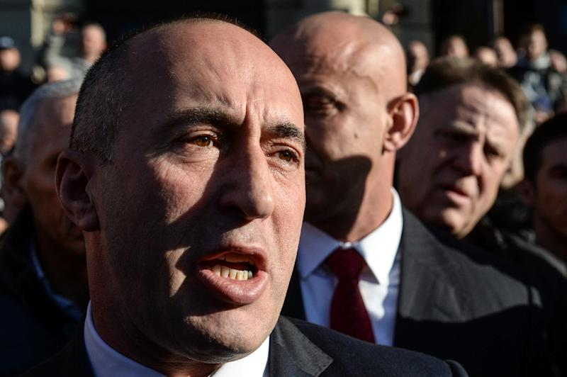 Former Kosovo Prime Minister Ramush Haradinaj was arrested in France in January 2017 under an international warrant issued by Serbia, which wants him tried for alleged war crimes committed during the 1990s conflict (AFP Photo/Sebastien Bozon)