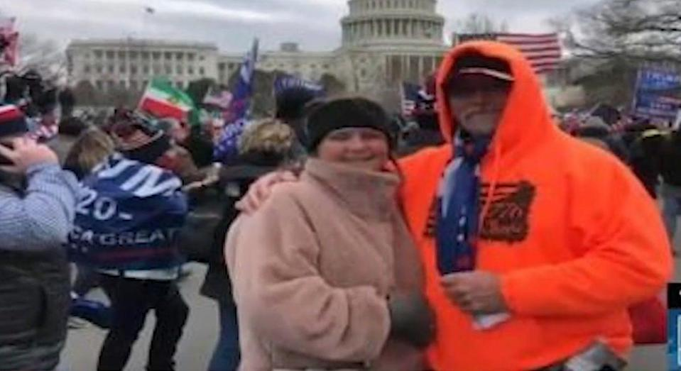 <p>Lori Ann Vinson and Thomas Roy Vinson, a couple from Kentucky, were allegedly seen in Capitol building on 6 January </p> (Screengrab)