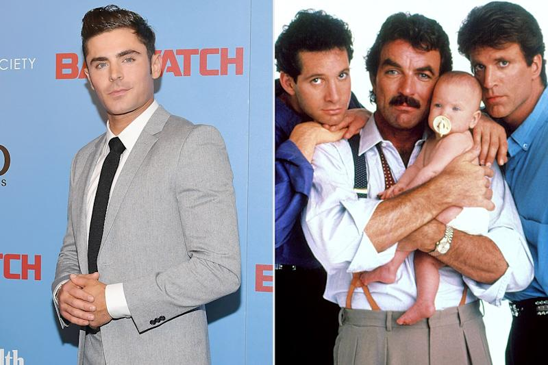 Zac Efron to star in Three Men and a Baby remake