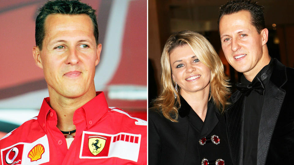 Michael Schumacher and wife Corrina, pictured here before his devastating accident.