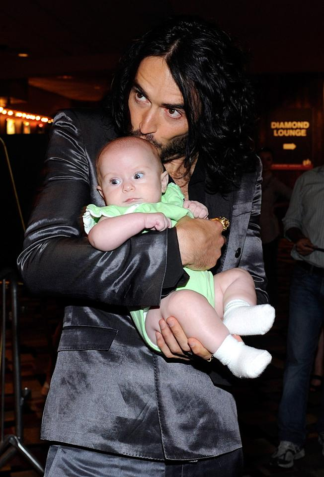 "<a href=""http://movies.yahoo.com/movie/contributor/1809838319"">Russell Brand</a> at the Las Vegas screening of <a href=""http://movies.yahoo.com/movie/1810081179/info"">Get Him to the Greek</a> - 05/20/2010"