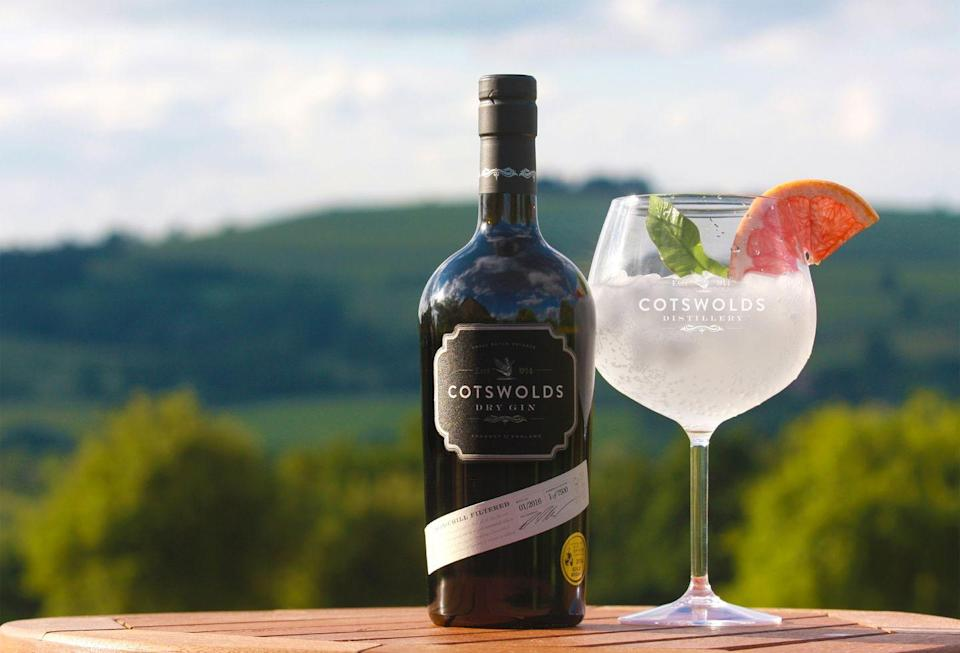 """<p><a class=""""link rapid-noclick-resp"""" href=""""https://www.cotswoldsdistillery.com/products/cotswolds-dry-gin"""" rel=""""nofollow noopener"""" target=""""_blank"""" data-ylk=""""slk:SHOP"""">SHOP</a></p><p>What they call """"pearlescent cloudiness"""" gives it the appearance of mother of pearl. Sharp and powerful, you get a satisfying thwack of juniper flavour and real pepperiness. Don't bother with lemon, which would be too acerbic – go for pink grapefruit instead.</p><p>£34.95 / 70cl; 46% ABV</p>"""