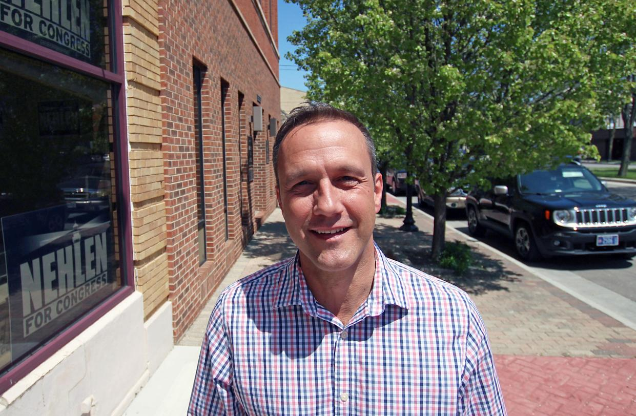 Paul Nehlen outside his campaign office in Kenosha, Wis., May 2016. (Photo: Carrie Antlfinger/AP)