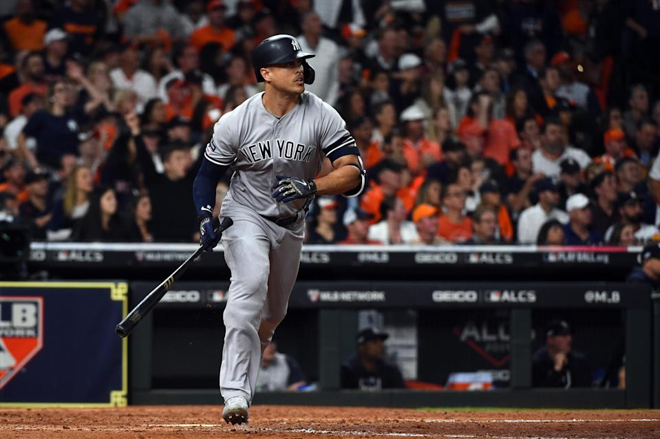 Fantasy managers awaiting anything close to Stanton's 60-homer season have been sorely disappointed. (Photo by Cooper Neill/MLB Photos via Getty Images)