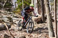 """<p>Because you have a lot more speed and power behind you, braking becomes all the more important. Even at the lightest assisted gear, Quan says, a Karmic e-bike will add around 50 watts to your pedal stroke. That means you'll want to slow down well ahead of <a href=""""https://www.bicycling.com/news/a28208790/should-cyclists-yield-at-stop-signs/"""" rel=""""nofollow noopener"""" target=""""_blank"""" data-ylk=""""slk:stop signs and road crossings"""" class=""""link rapid-noclick-resp"""">stop signs and road crossings</a>, and far earlier than you would on a slower-moving bike. Get to know your brakes and their relative power, so you can better assess the safest time to start slowing down.</p>"""
