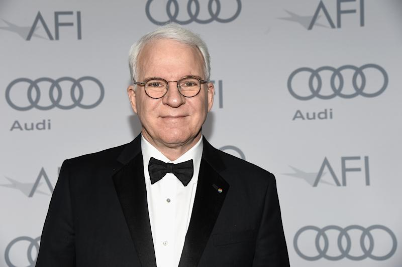 Steve Martin went grey in his 30s and he has been rocking it ever since. (Getty Images)