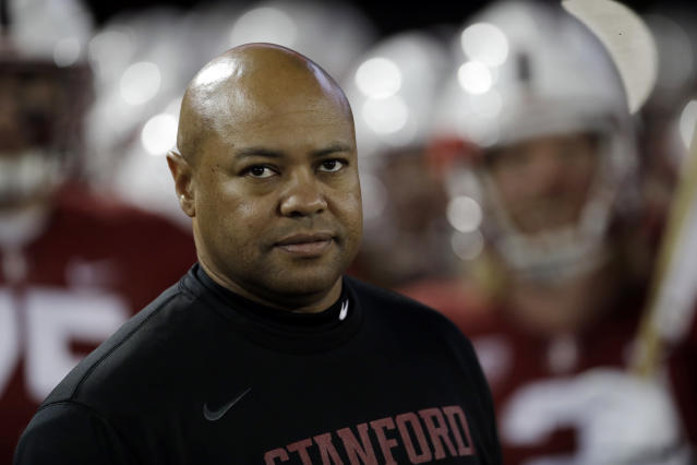 David Shaw could be up for a head coaching job in the NFL if he decides he wants to leave his alma mater Stanford. (AP)
