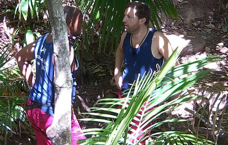 Ian and Andrew in the jungle (Photo: Rex)