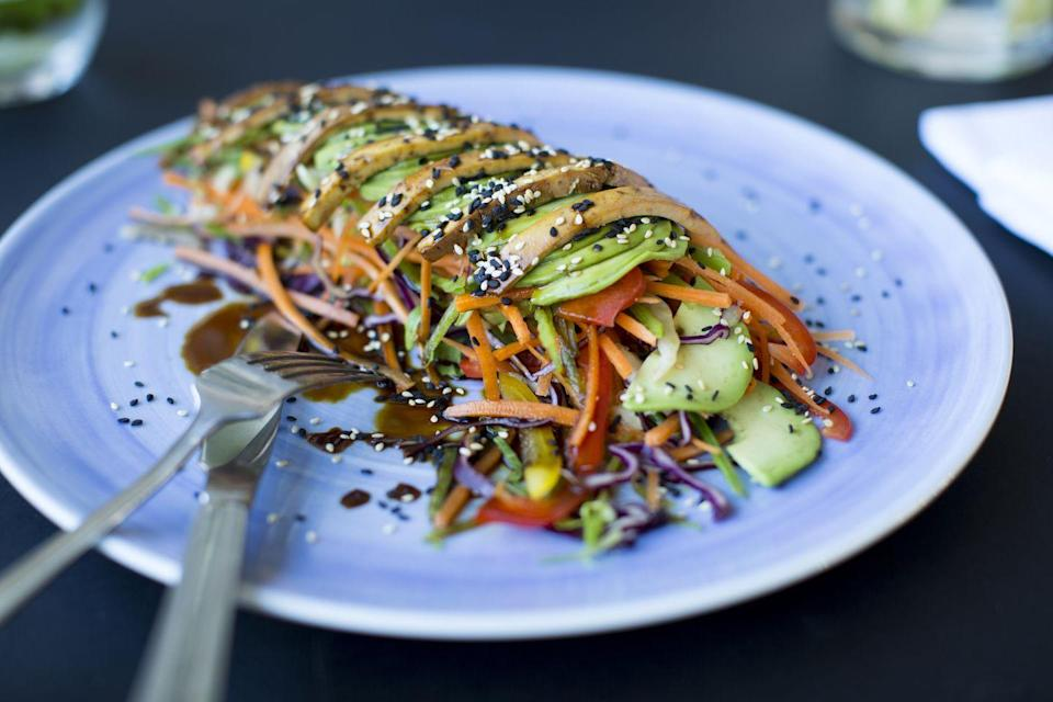 """<p>Set across five London locations, this classic vegan chain has stayed true to its principles that meat substitutes aren't needed – vegetables can sing for themselves. </p><p>The menu features artfully presented dishes focusing on colour and flavour, including some more international options like their moreish tagine and the green Thai curry. </p><p>They also have an incredible selection of brunch items and fabulous desserts – we've been known to go for the cheesecake alone!</p><p>Find more info, <a href=""""https://www.instagram.com/gaterestaurant/"""" rel=""""nofollow noopener"""" target=""""_blank"""" data-ylk=""""slk:click here"""" class=""""link rapid-noclick-resp"""">click here</a>.</p>"""