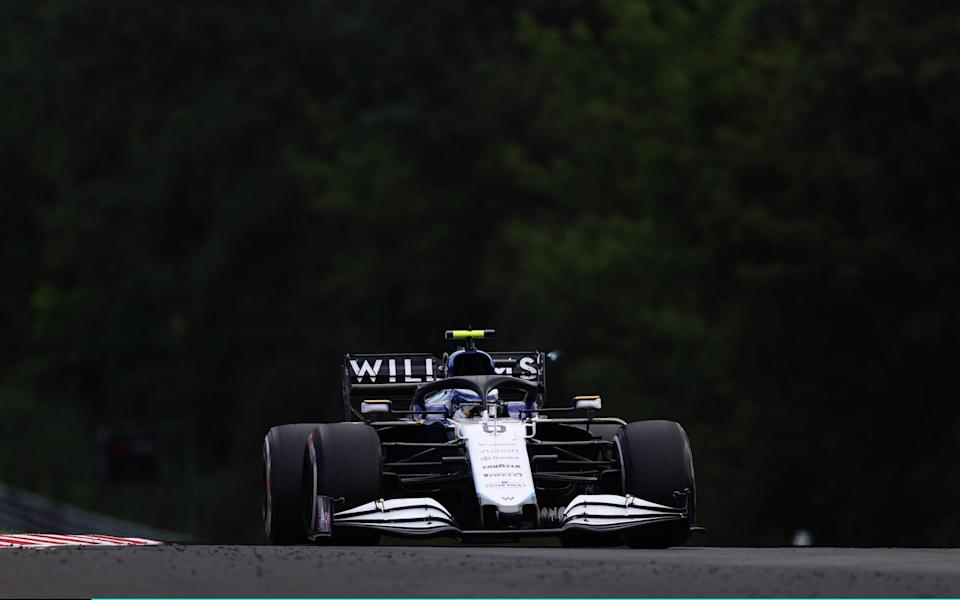 Nicholas Latifi of Canada driving the (6) Williams Racing FW43B Mercedes during the F1 Grand Prix of Hungary at Hungaroring on August 01, 2021 in Budapest, Hungary - Getty Images Europe/Lars Baron