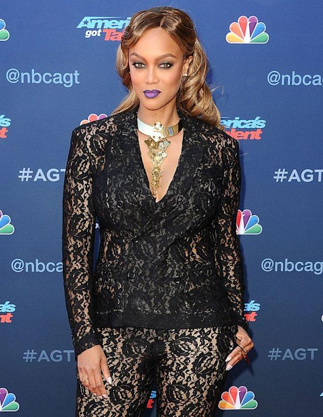 Tyra Banks attends NBC's <em>America's Got Talen</em>t Season 12 kickoff. (Photo: Jason LaVeris/FilmMagic)