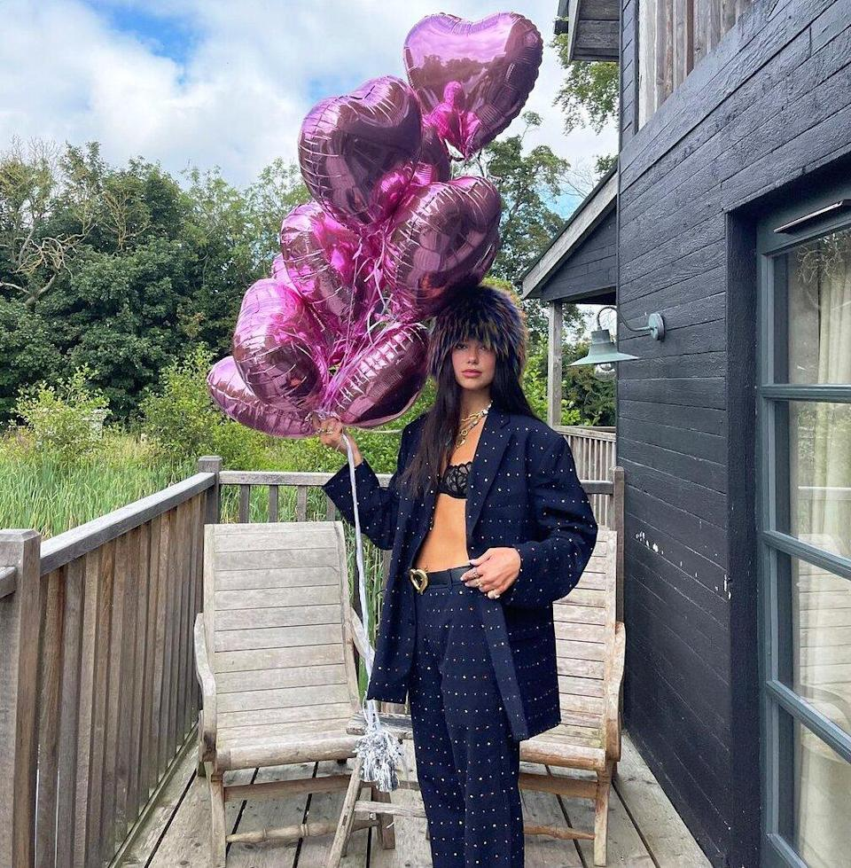 Dua Lipa Rings in 26th Birthday with Tributes from Bella and Anwar Hadid: 'Girl of My Dreams'