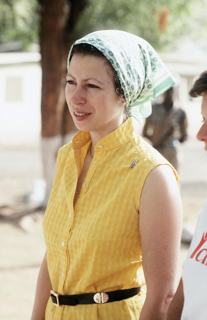 Princess Anne in Gambia for Save the Children, February 1984.