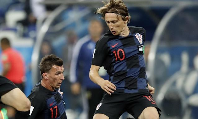 Luka Modric will be a key player for Croatia in their World Cup semi-final against England.
