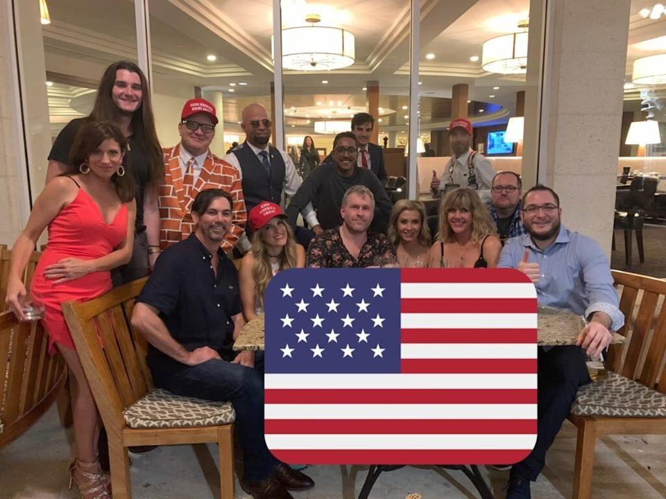 Ali Alexander with Scott Presler, Enrique Tarrio, Mike Cernovich, Logan Cook and several Stop the Steal accomplices at the Trump National Doral Miami golf resort for the American Priority Conference in 2019. (Photo: Culttture.com/Ali Alexander)