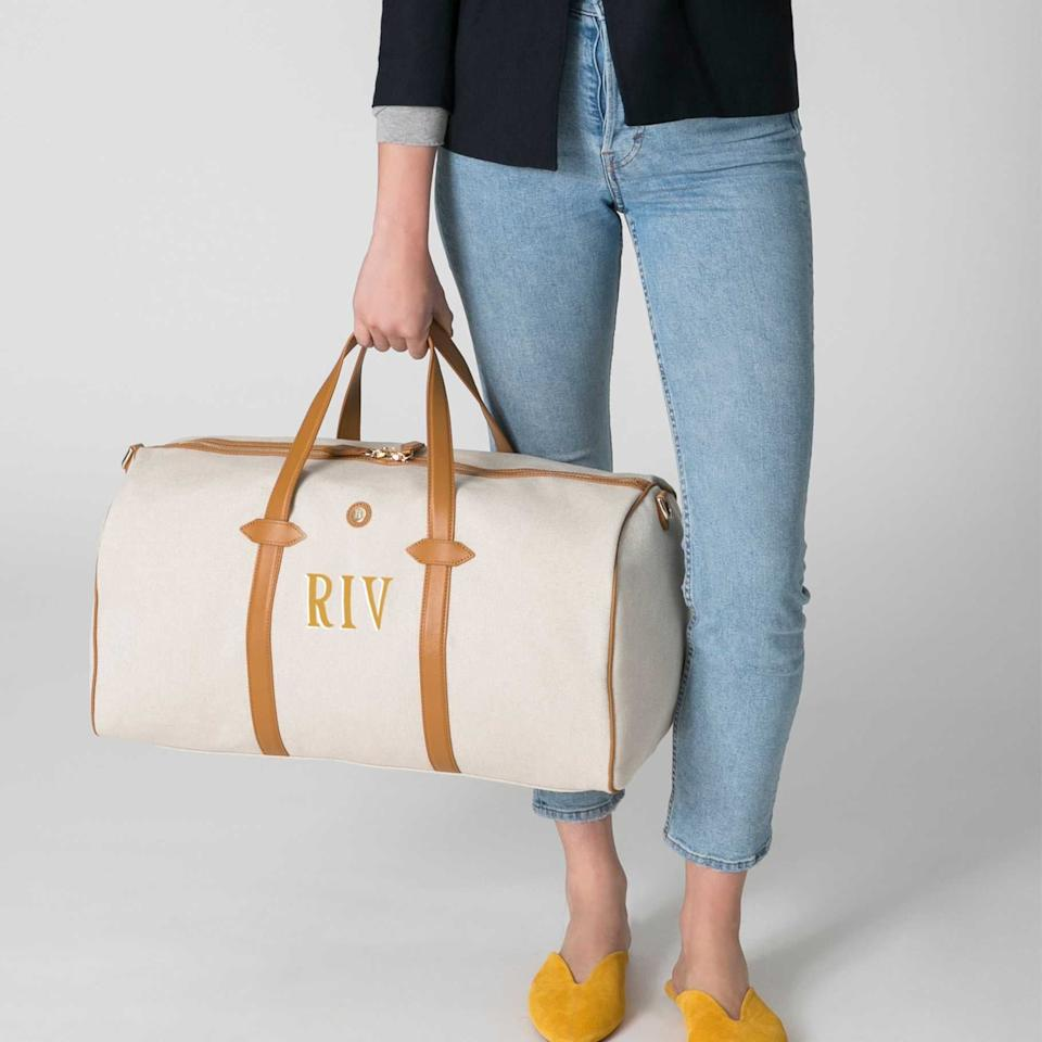 """<p>This <a href=""""https://www.popsugar.com/buy/Paravel-Main-Line-Duffle-541825?p_name=%20Paravel%20Main%20Line%20Duffle&retailer=tourparavel.com&pid=541825&price=285&evar1=fab%3Auk&evar9=44447011&evar98=https%3A%2F%2Fwww.popsugar.com%2Ffashion%2Fphoto-gallery%2F44447011%2Fimage%2F47129168%2FParavel-Main-Line-Duffle&list1=shopping%2Cluggage%2Csuitcases%2Ctravel%20style%2Ctravel%20goods&prop13=api&pdata=1"""" rel=""""nofollow"""" data-shoppable-link=""""1"""" target=""""_blank"""" class=""""ga-track"""" data-ga-category=""""Related"""" data-ga-label=""""https://tourparavel.com/products/main-line-duffel?variant_id=Z2lkOi8vc2hvcGlmeS9Qcm9kdWN0VmFyaWFudC8xNjM5NTIxMjkxNDc3Nw=="""" data-ga-action=""""In-Line Links""""> Paravel Main Line Duffle </a> ($285) is the perfect size for a one-night getaway. Plus, you can even get your initials on it.</p>"""