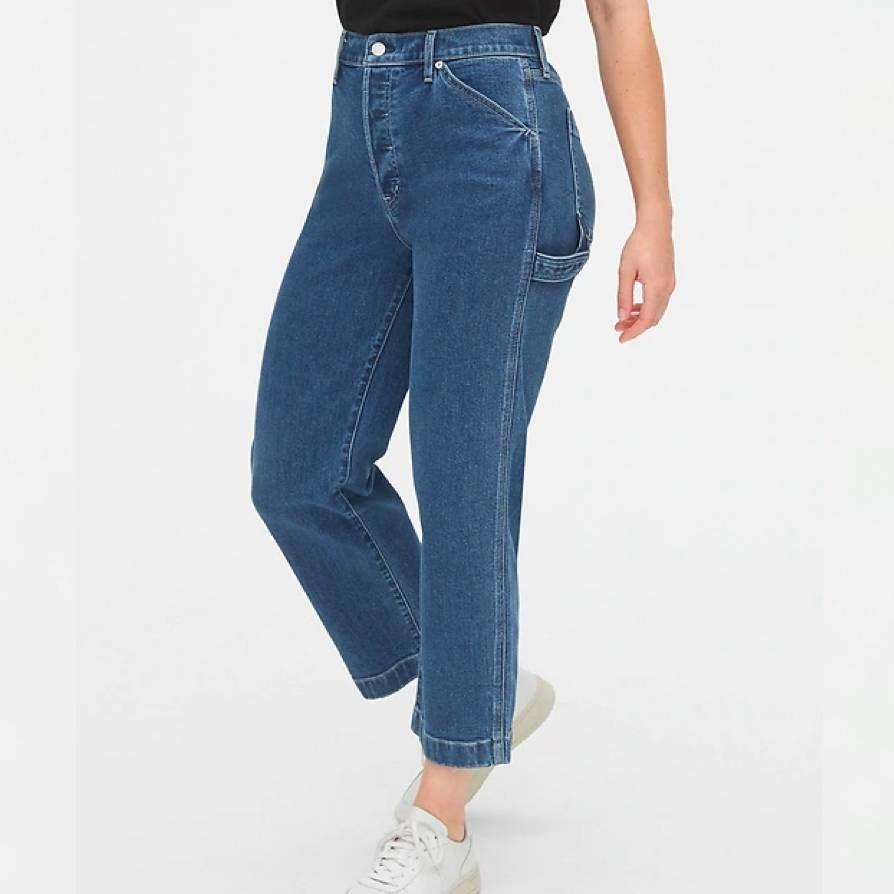 "Another American classic not to sleep on, Gap has a good selection of denim and an inclusive size range—including these carpenter jeans that might convince you to take up skateboarding. $80, Gap. <a href=""https://www.gap.com/browse/product.do?pid=512766002#pdp-page-content"" rel=""nofollow noopener"" target=""_blank"" data-ylk=""slk:Get it now!"" class=""link rapid-noclick-resp"">Get it now!</a>"