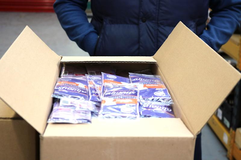 <strong>The Well food bank in Wolverhampton regularly distributes sanitary products to those requesting food parcels</strong> (George Bowden/HuffPost UK)