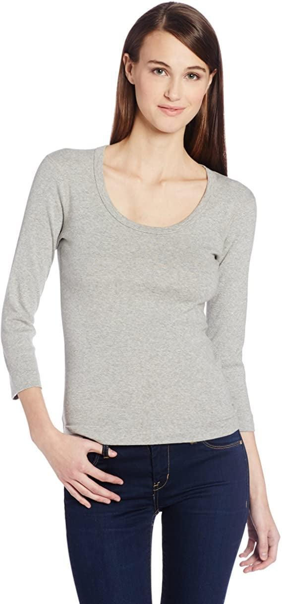 <p>This <span>Three Dots Women's 3/4 Sleeve Playgirl Scoop-Neck T-Shirt</span> ($33-$46) makes a nice layering piece. </p>