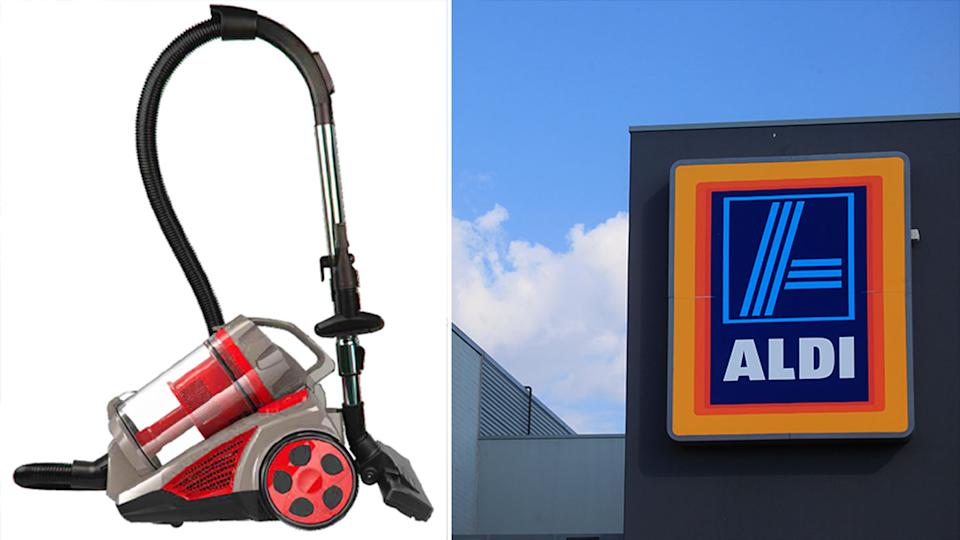 Aldi has issued a recall for the Easy Home - Cyclonic Handheld and Stick Vacuum Cleaner. Source: Product Safety Australia/AAP