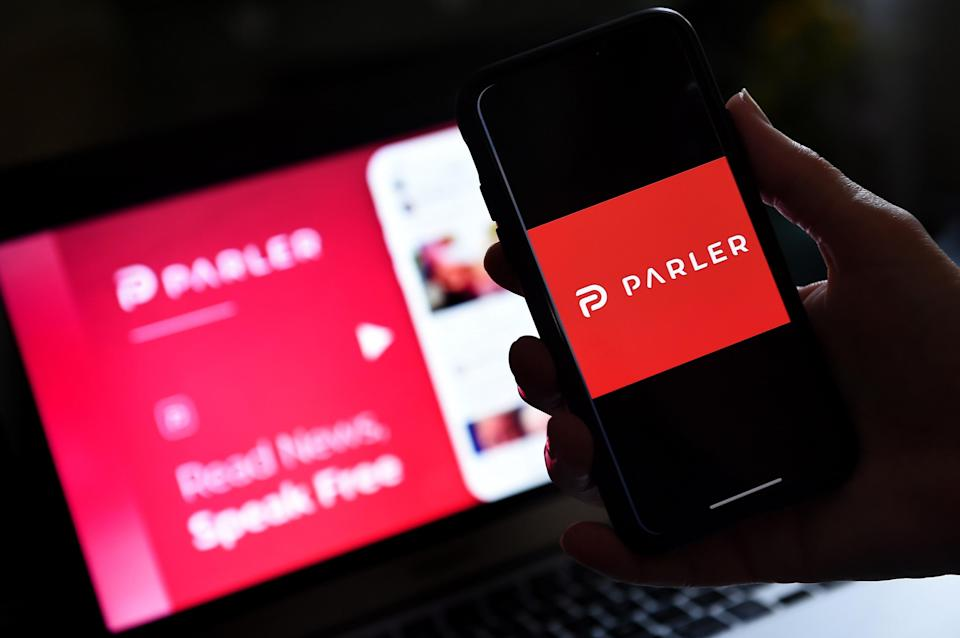 The Parler app topped US download charts in the App Store and Google Play Store.