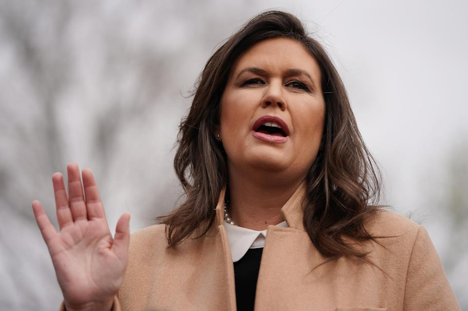 """Sarah Huckabee Sanders said she doesn't think Congress is """"smart enough"""" to analyze Trump's tax returns. (Photo: Chip Somodevilla/Getty Images)"""