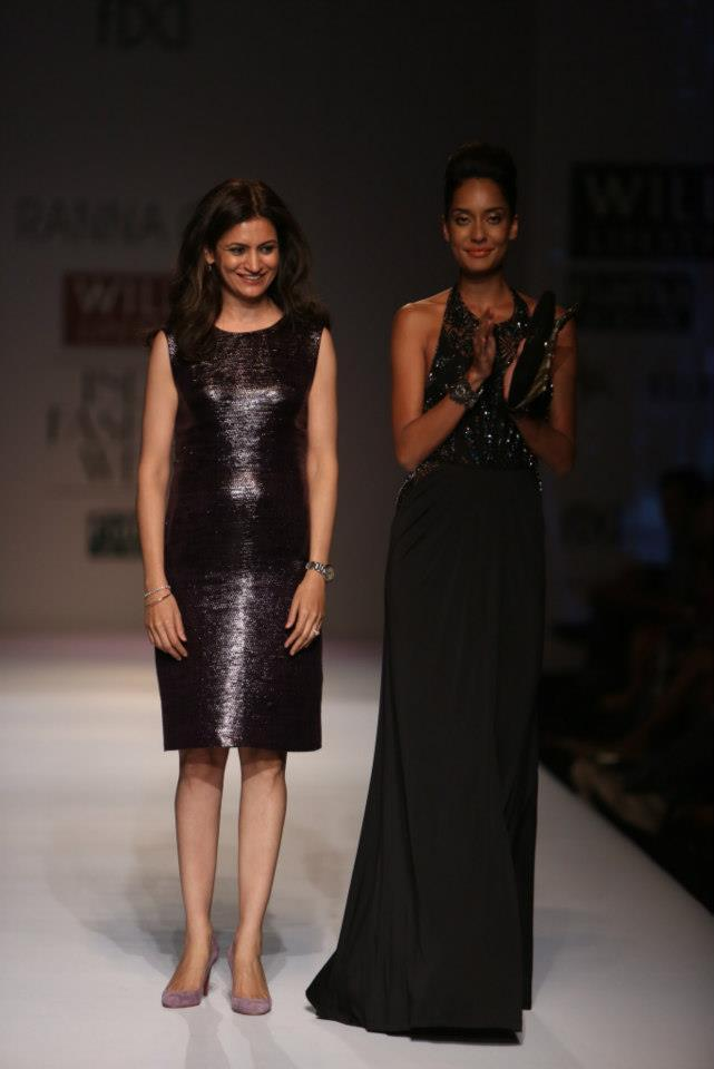 Model turned actress Lisa Haydon walked the ramp for Rana Gill on Day 4 of the WIFW AW '13.