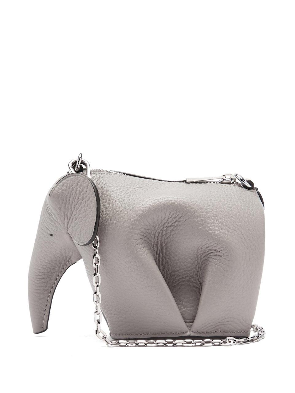 <p>This adorable <span>Loewe Elephant Leather Mini Crossbody Pouch</span> ($750) will have your favorite Cancer over the moon.</p>