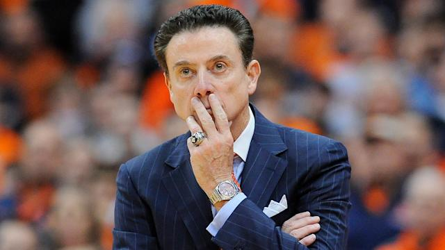 "Louisville cut ties with Rick Pitino, <a href=""https://sports.yahoo.com/louisville-passes-fresh-start-replacing-rick-pitino-220934667.html"" data-ylk=""slk:then hired an unexperienced replacement with close ties to the disgraced legend;outcm:mb_qualified_link;_E:mb_qualified_link"" class=""link rapid-noclick-resp newsroom-embed-article"">then hired an unexperienced replacement with close ties to the disgraced legend</a>. (Getty)"