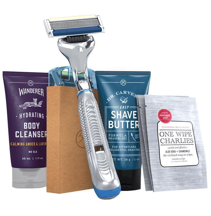"""<p><strong>Dollar Shave Club</strong></p><p>dollarshaveclub.com</p><p><strong>$25.00</strong></p><p><a href=""""https://go.redirectingat.com?id=74968X1596630&url=https%3A%2F%2Fwww.dollarshaveclub.com%2Fgift&sref=https%3A%2F%2Fwww.esquire.com%2Flifestyle%2Fg19735637%2Flast-minute-fathers-day-gifts-ideas%2F"""" rel=""""nofollow noopener"""" target=""""_blank"""" data-ylk=""""slk:Buy"""" class=""""link rapid-noclick-resp"""">Buy</a></p><p>For the dad who won't go a day without picking up the razor.</p>"""