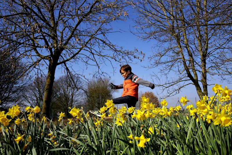 Spring weather: Temperatures are set to peak at 20C (Gareth Fuller/PA Wire)
