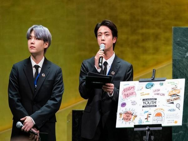 BTS at United Nations General Assembly. (Image source: Twitter)