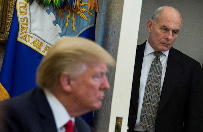White House chief of staff John Kelly is leaving at the end of the year (AFP Photo/ANDREW CABALLERO-REYNOLDS)