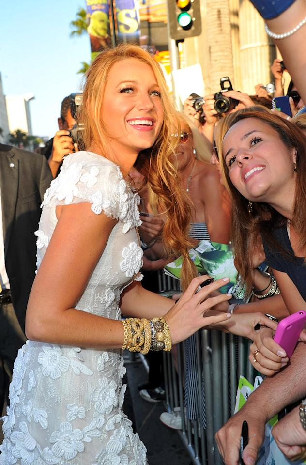 """<a href=""""http://movies.yahoo.com/movie/contributor/1808631078"""">Blake Lively</a> at the Los Angeles premiere of <a href=""""http://movies.yahoo.com/movie/1810166777/info"""">Green Lantern</a> on June 15, 2011."""