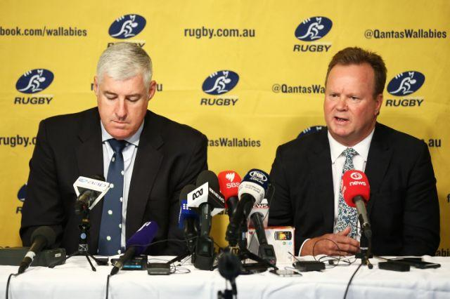 Clyne with ARU CEO Bill Pulver. Pic: Getty