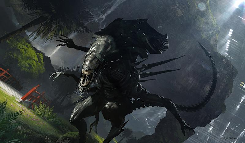 Concept art for Neill Blomkamp's unmade Alien sequel (credit: Neill Blomkamp/20th Century Fox)