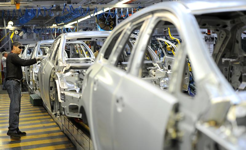 A view of the Vauxhall Astra production line at the Vauxhall Motors factory in Ellesmere Port, Cheshire.