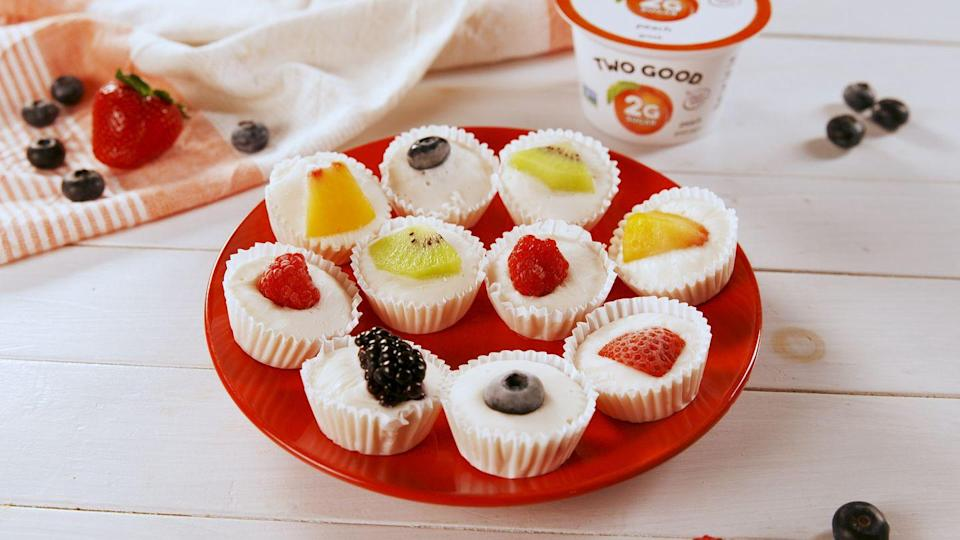 "<p>Greek yogurt is here to stay. You can serve it with fruit and honey for breakfast, use it to replace other fats in baked goods, or make a sauce for your protein of choice. However you enjoy it, keep eating it: The stuff's full of probiotic bacteria that promote good digestive health—plus, it has more protein than other yogurt varieties.</p><p><strong>Recipe: <a href=""https://www.delish.com/cooking/recipe-ideas/a25619129/frozen-yogurt-fruit-bites-recipe/"" rel=""nofollow noopener"" target=""_blank"" data-ylk=""slk:Frozen Yogurt Fruit Bites"" class=""link rapid-noclick-resp"">Frozen Yogurt Fruit Bites</a></strong></p>"