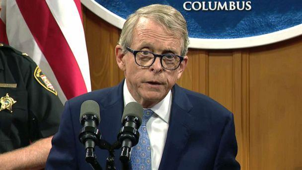 PHOTO: Ohio Governor Mike DeWine speaks at a press conference on improving background checks for firearm purchases, Aug. 28, 2019. (WSYX)