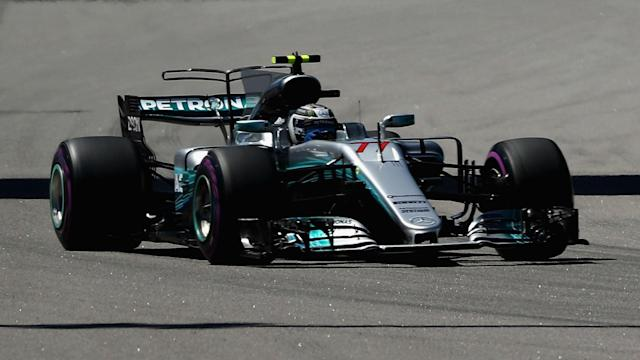 Mercedes' Valtteri Bottas did not relinquish his lead after a great start to win a Formula One race for the first time in his career.