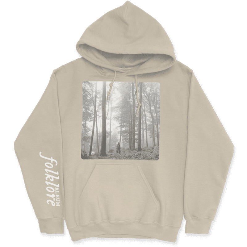 "<p><span>The ""In the Trees"" Tan Hoodie</span> ($60) has ""<a class=""link rapid-noclick-resp"" href=""https://www.popsugar.com/Taylor-Swift"" rel=""nofollow noopener"" target=""_blank"" data-ylk=""slk:Taylor Swift"">Taylor Swift</a>"" printed on the back. </p>"