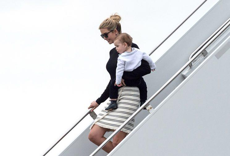 Ivanka Trump wearing a skirt from her spring collection.