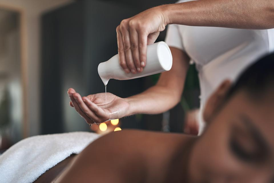 This soothing massage oil will work wonders