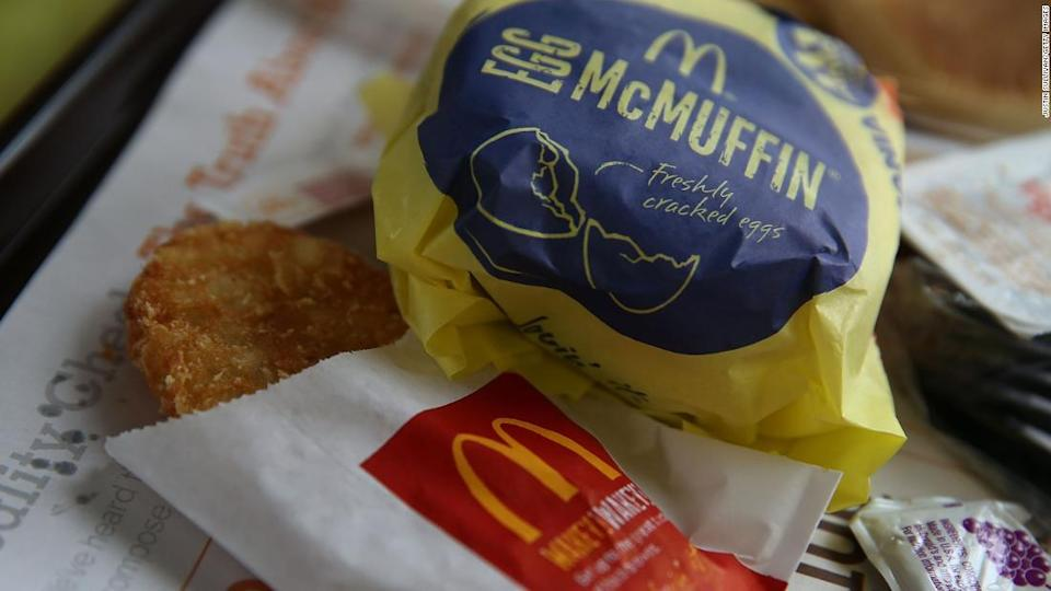 "<p>Hash browns nestle alongside an Egg McMuffin at a McDonald's restaurant in Fairfield, California. </p><div class=""cnn--image__credit""><em><small>Credit: Justin Sullivan/Getty Images / Getty</small></em></div>"