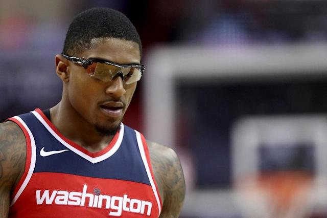 In two prior games Bradley Beal #3 of the Washington Wizards had connected on just 30.7 percent of his shots from the floor (AFP Photo/Rob Carr)