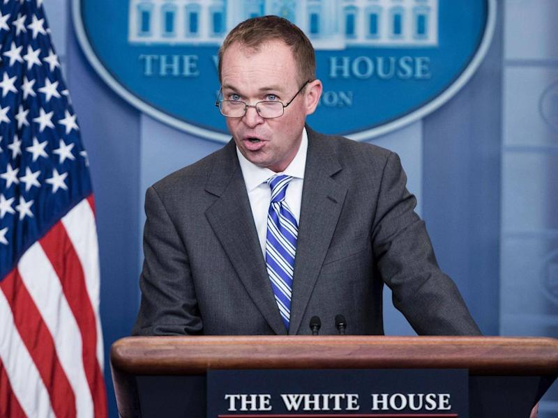 White House Budget Chief Mick Mulvaney (AFP)