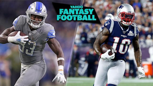 A pair of big-name fantasy players were placed on the IR this week in Kerryon Johnson and Josh Gordon. (Photos L to R: Leon Halip/Getty Images; Greg M. Cooper/USA TODAY Sports)