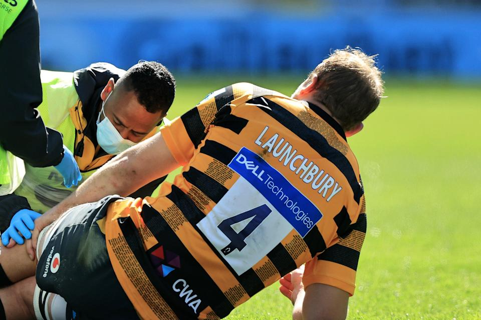 <p>Wasps lock Joe Launchbury suffered a knee injury against Bath</p> (Getty Images)