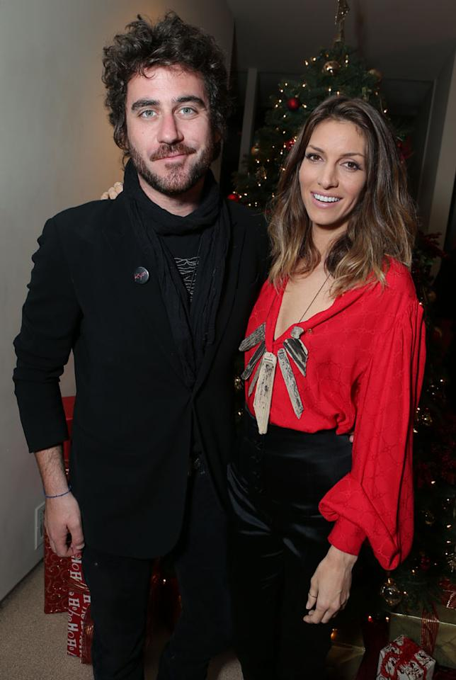 Bryn Mooser and Dawn Olivieri at Showtime's 7th Annual Holiday Soiree on December 3, 2012 in Beverly Hills, California.